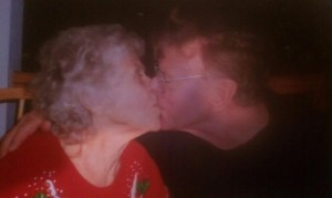 Dad and Mom... Kissin'